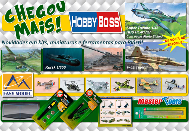 Chegou Hobby Boss, Easy Model, Master Tools